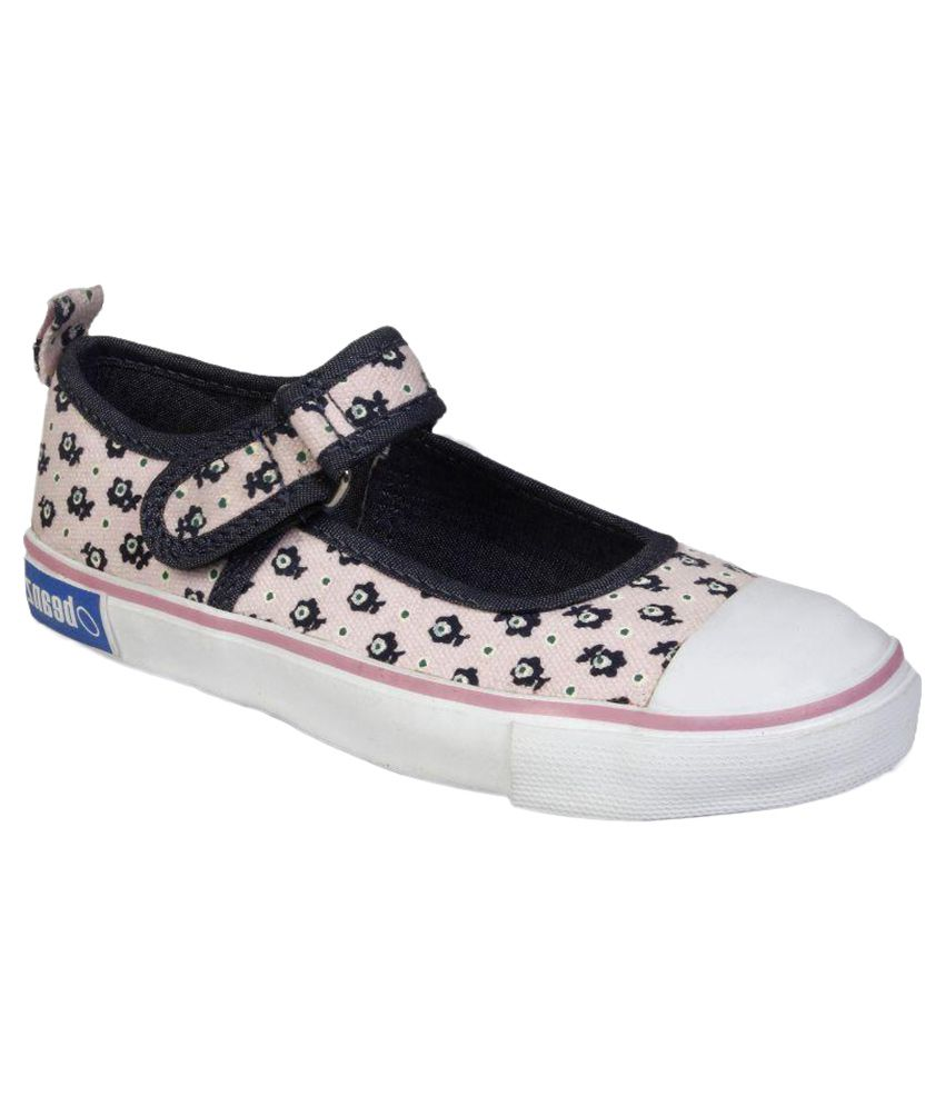 Beanz Pink Canvas Casual Shoes