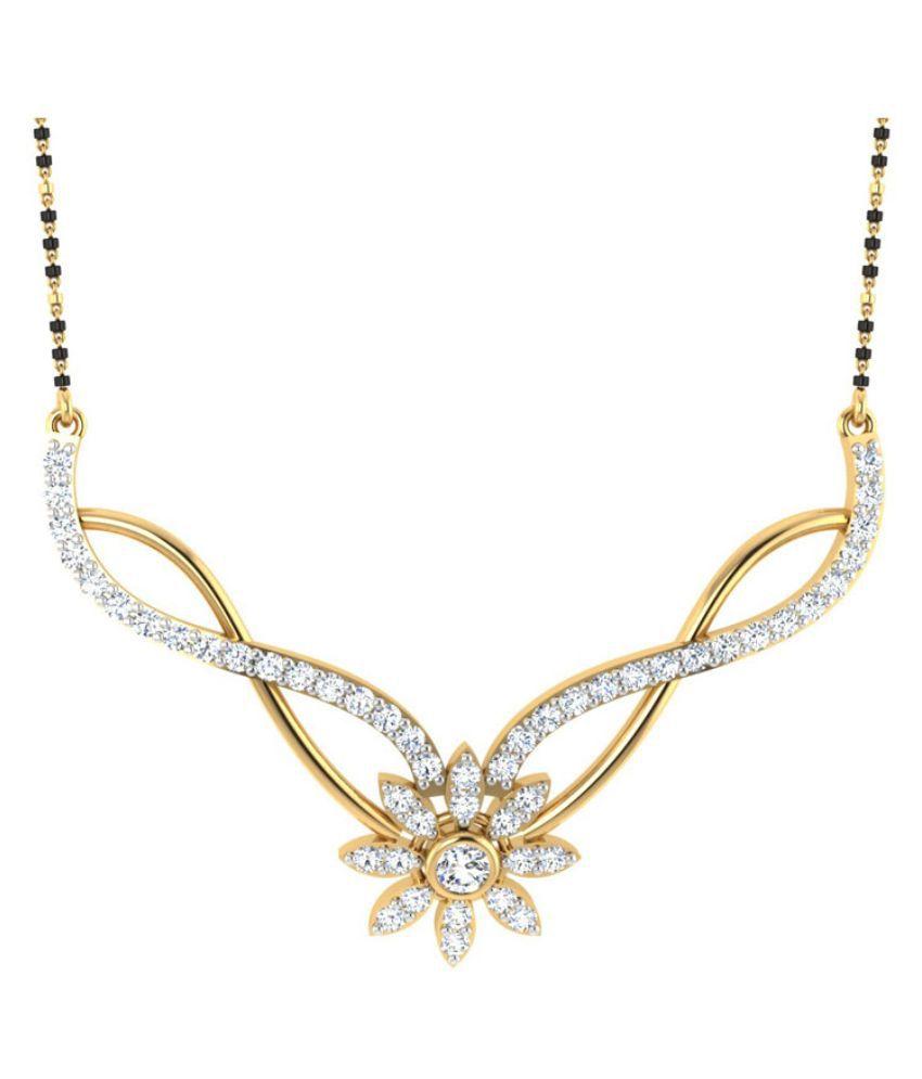 Carat Forever 14Kt Yellow Gold Diamond Mangalsutra