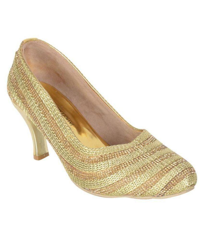 Croc International Gold Heels