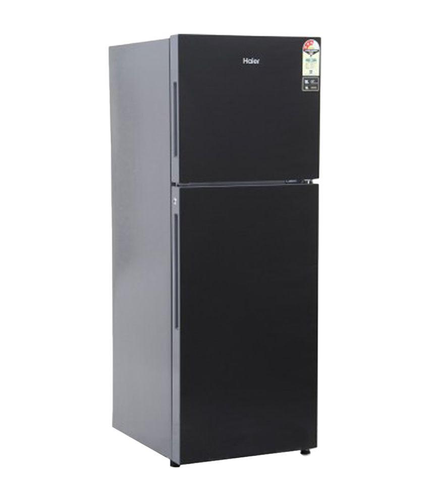 Haier 247 Ltr 3 Star HRF-2674PKG-R Double Door Refrigerator - Black Glass