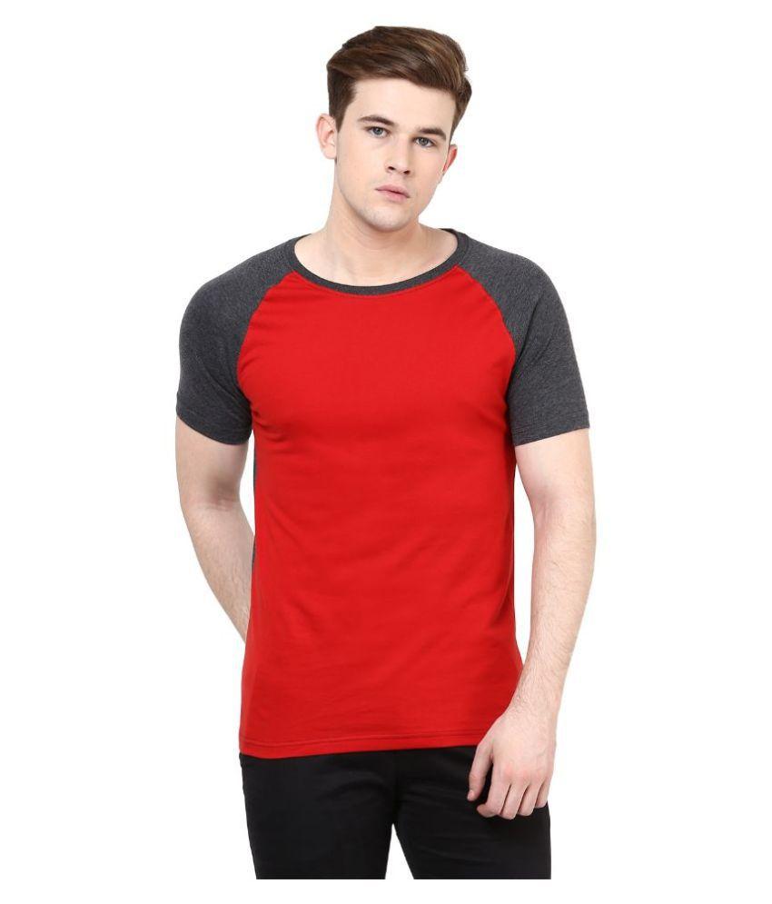 Benoit Red Round T Shirt