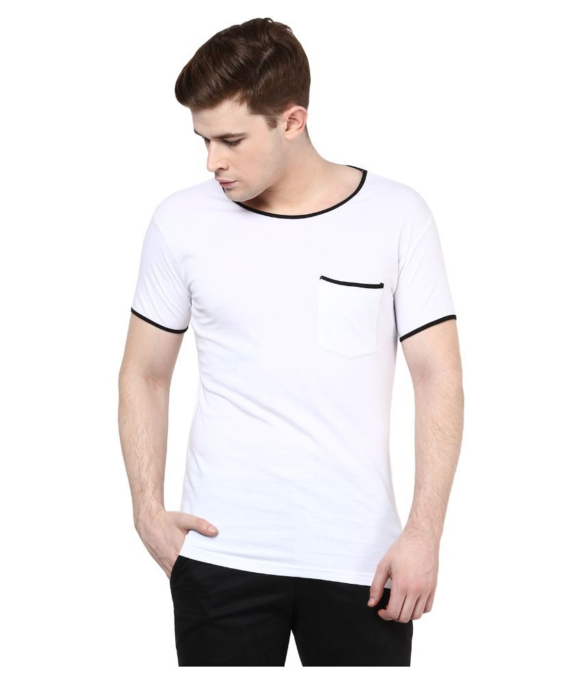 Benoit White Round T Shirt