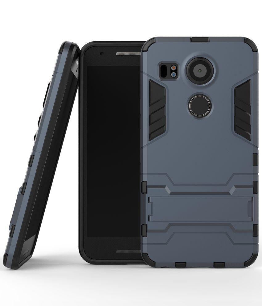 Prosper Stand Back Cover for LG Google Nexus 5X - Black