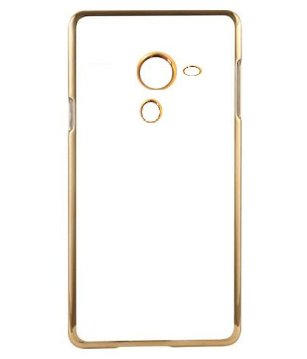 MuditMobi Meephone  Ultra Thin TPU Back Case Cover For- Letv Le 2S- Transparent-Gold