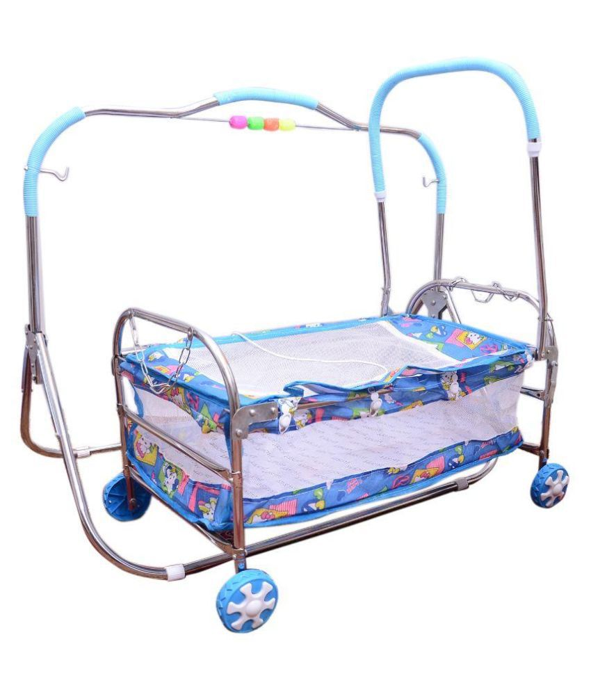 Abasr Blue Steel Baby Bassinet