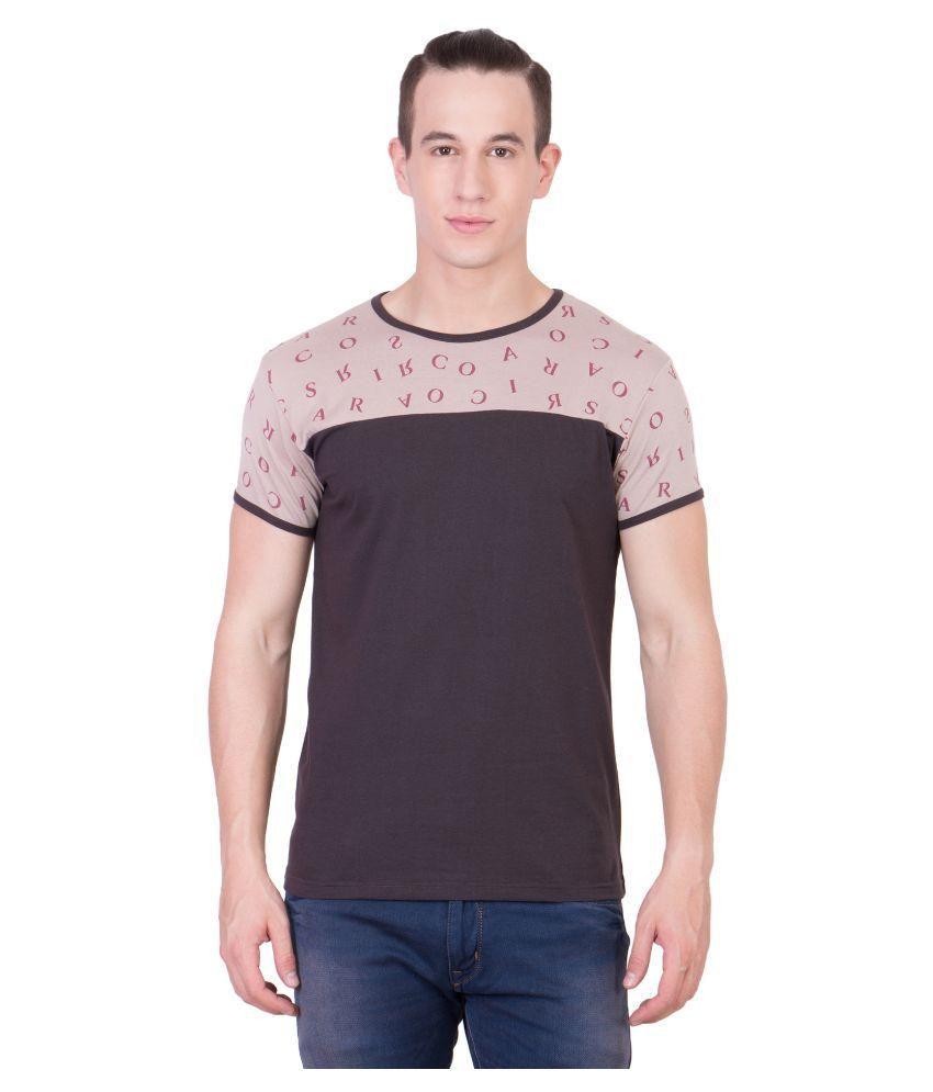Cliths Brown Round T Shirt
