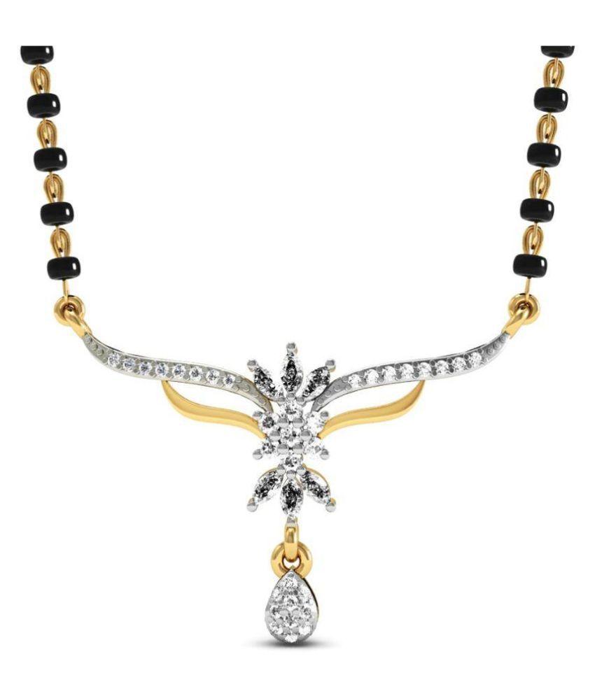 Rasav Jewels 14Kt Diamonds Diamond Mangalsutra