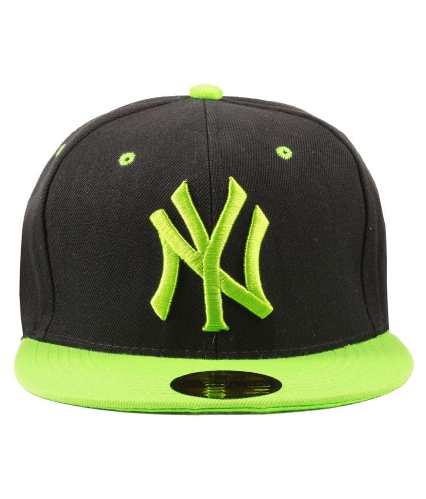 Stylos Black Cotton Baseball Cap