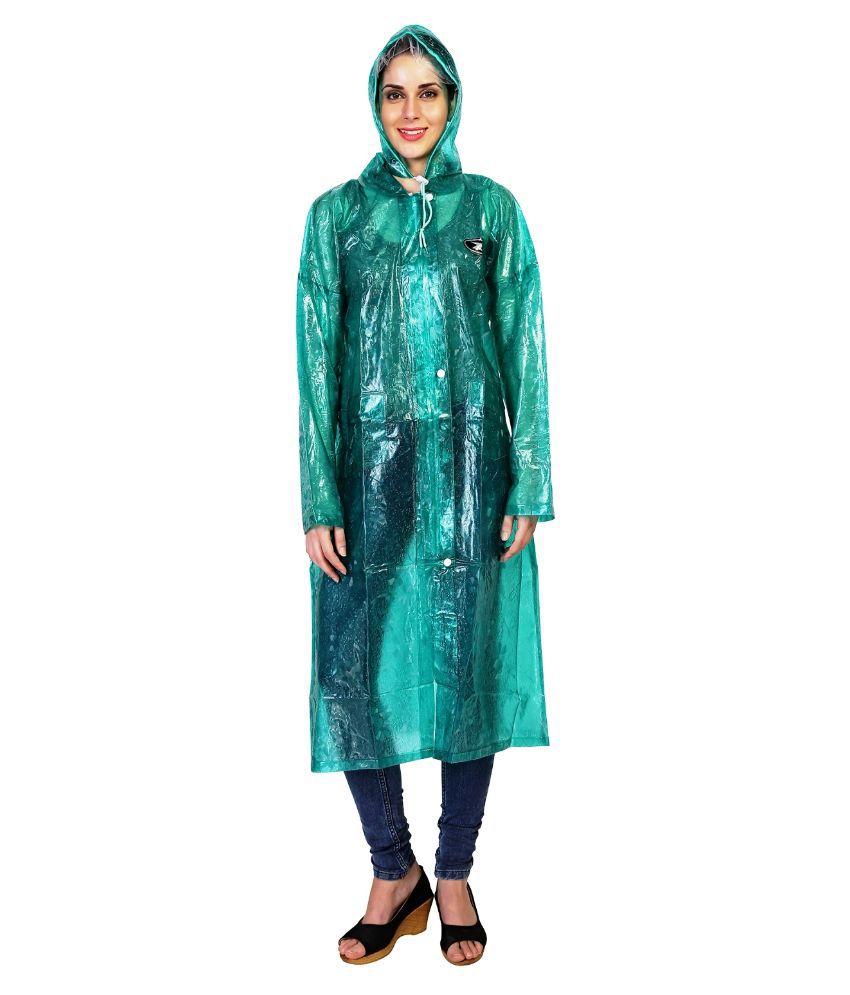 Zeeel Green Waterproof Raincoat