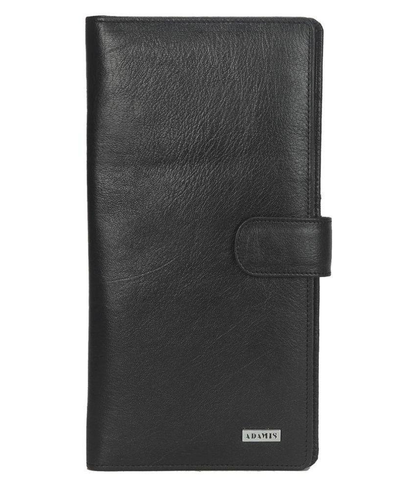 Adamis Black Solid Bi Fold Wallet