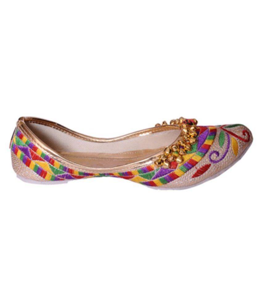 Indcrown Multi Color Ethnic Footwear