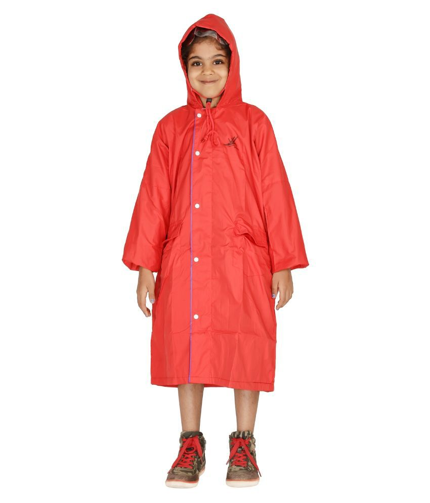 Zeel Red Rainwear For Girls