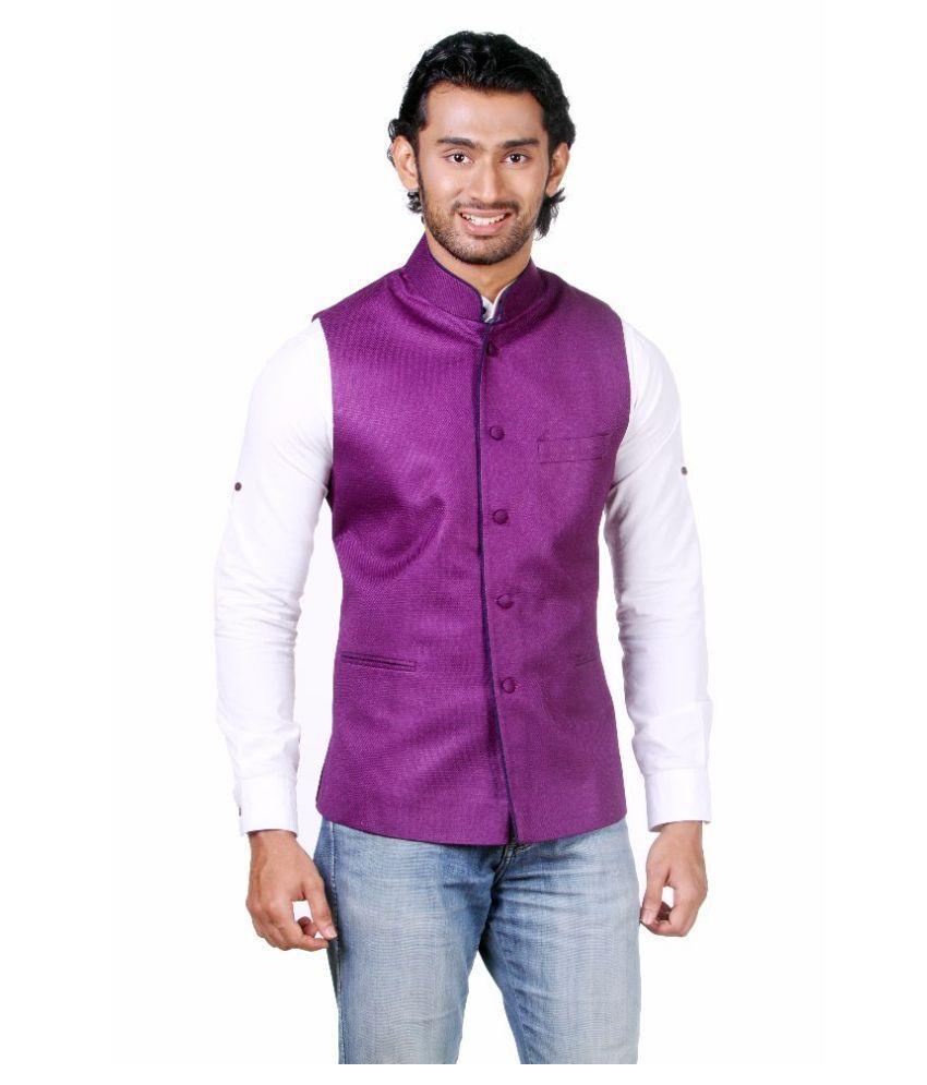 Amora Purple festive Waistcoats