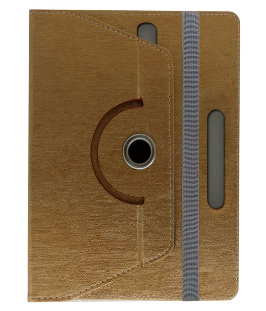 ACM Flip Cover For Celkon Ct 111 - Golden