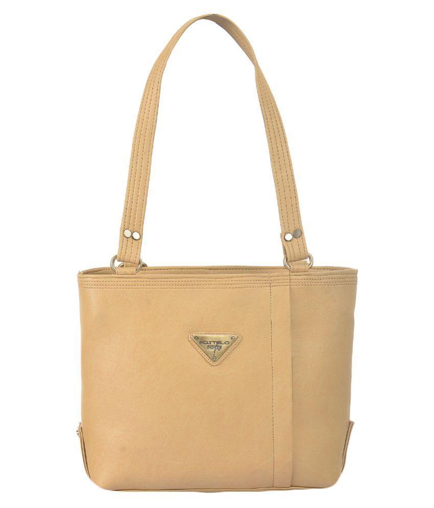 Fostelo Beige Synthetic Shoulder Bag