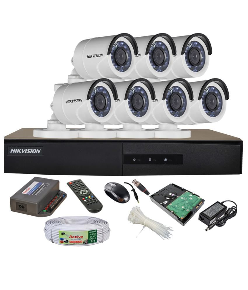 Hikvision-DS-7208HGHI-E1-8CH-Dvr,-7(DS-2CE16COT-IR)-Bullet-Camera-(With-Mouse,-Remote,-2TB-HDD,-Bnc&Dc-Connector,Power-Supply,Cable)