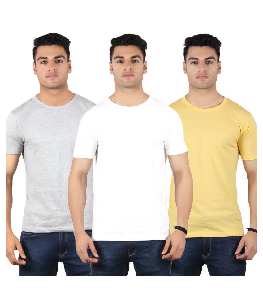 Diaz Multi Round T Shirt Pack of 3