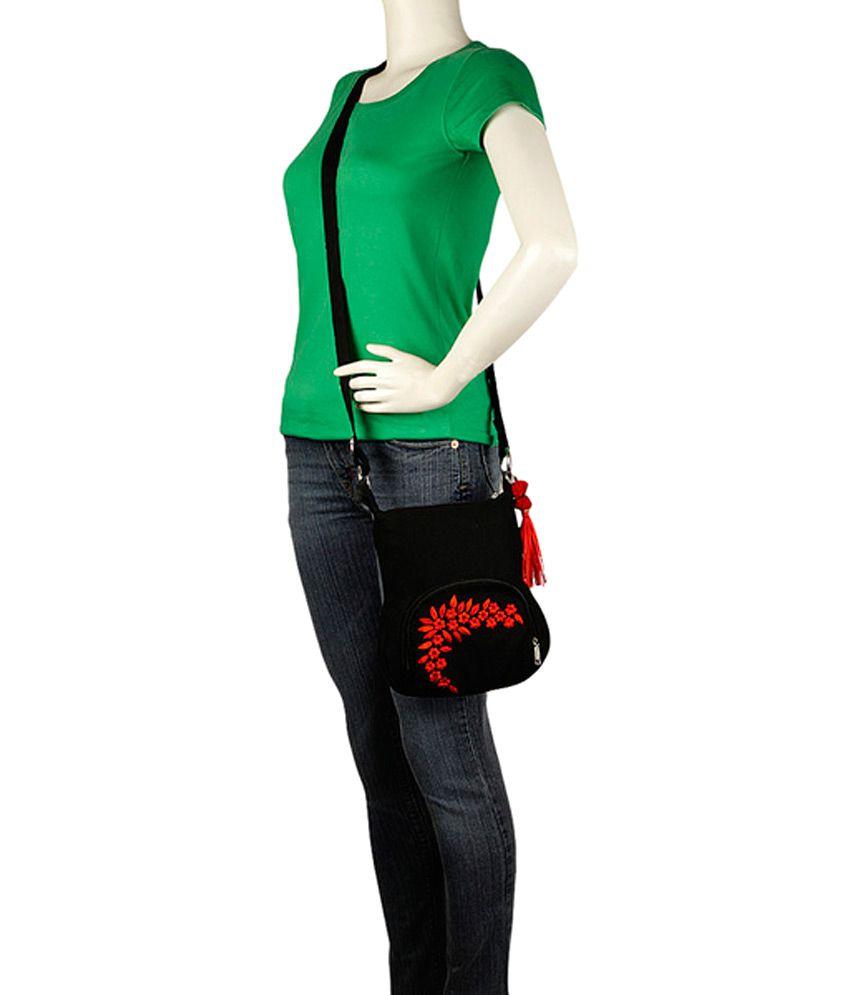 Pick Pocket Black Canvas Sling Bag - Buy Pick Pocket Black Canvas ...