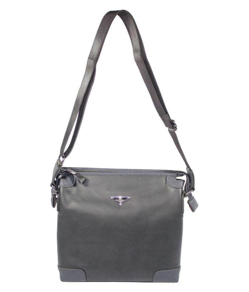 BagsHub Black PU Sling Bag