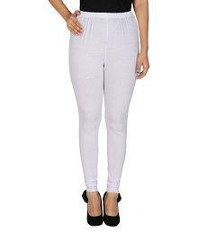 Tarkshyam Trendz White Cotton Lycra Leggings