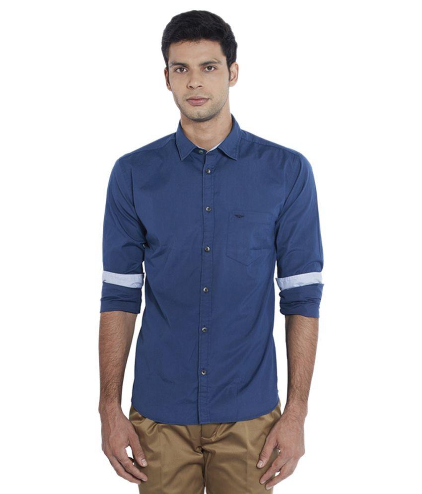 Park Avenue Blue Casuals Slim Fit Shirt