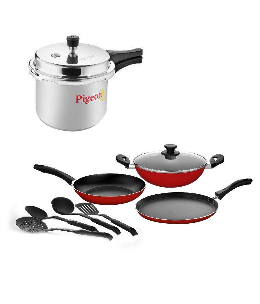 Non Stick Kitchen Set With Price: Pigeon Non-Stick Gift Set Cookware Set 9 Cookware Sets