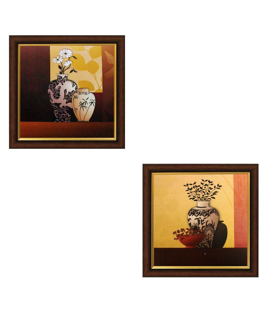SAF ShyamArtnFrame Wood Art Prints With Frame 2 combination