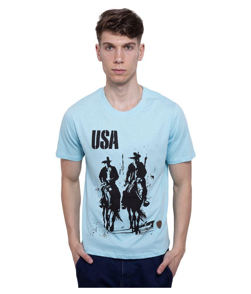 Dapple Grey Blue Round T Shirt