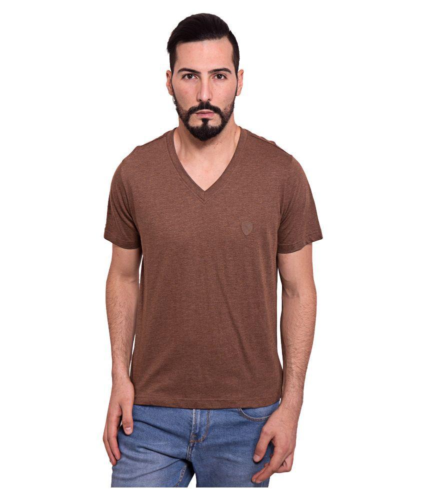 Dapple Grey Brown V-neck T Shirt