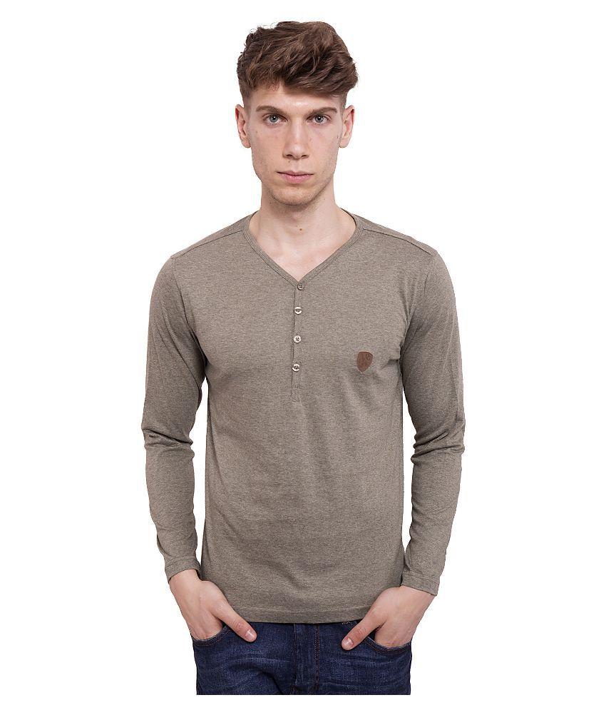 Dapple Grey Grey V-neck T Shirt