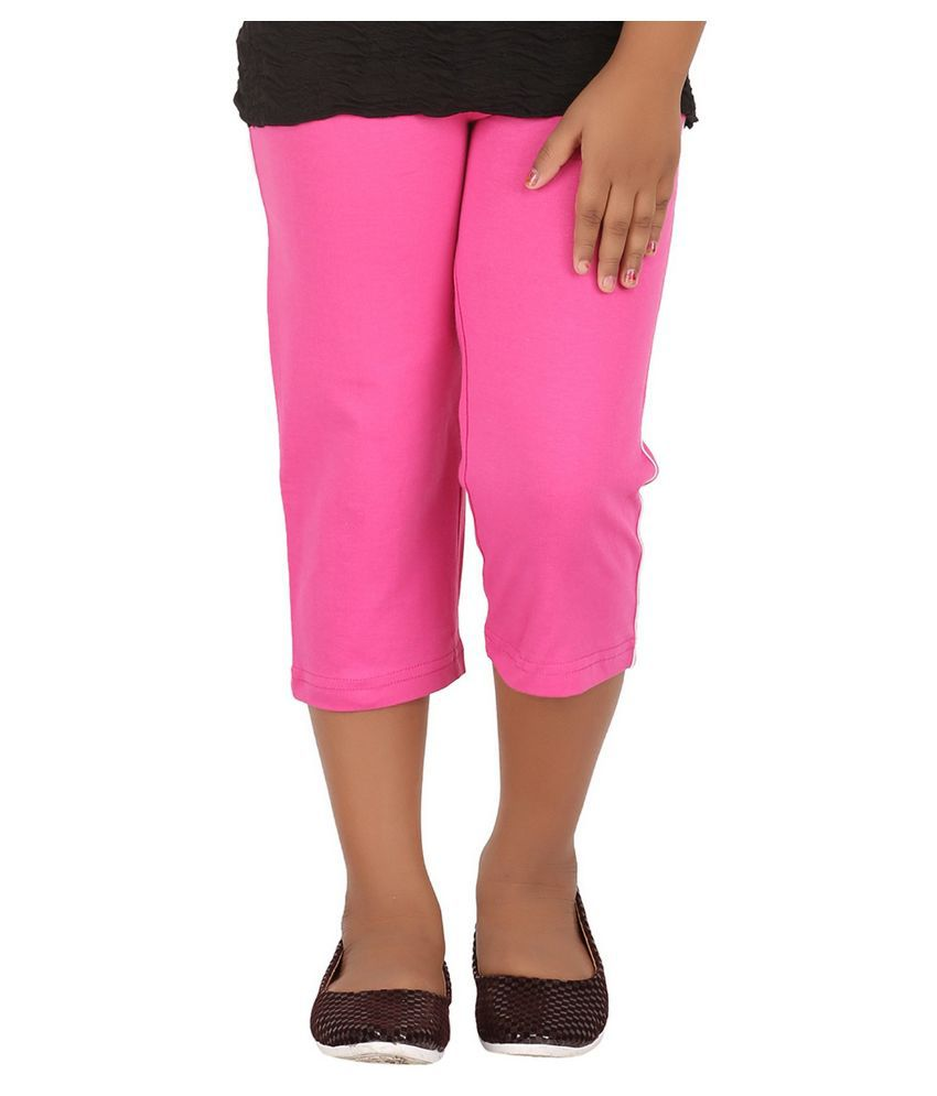 Minnow Pink Capris For Girls