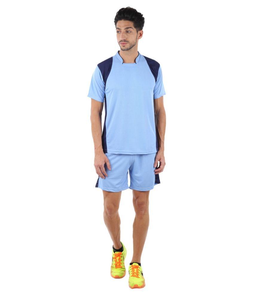 VDG Sky Blue Polyester T-Shirt