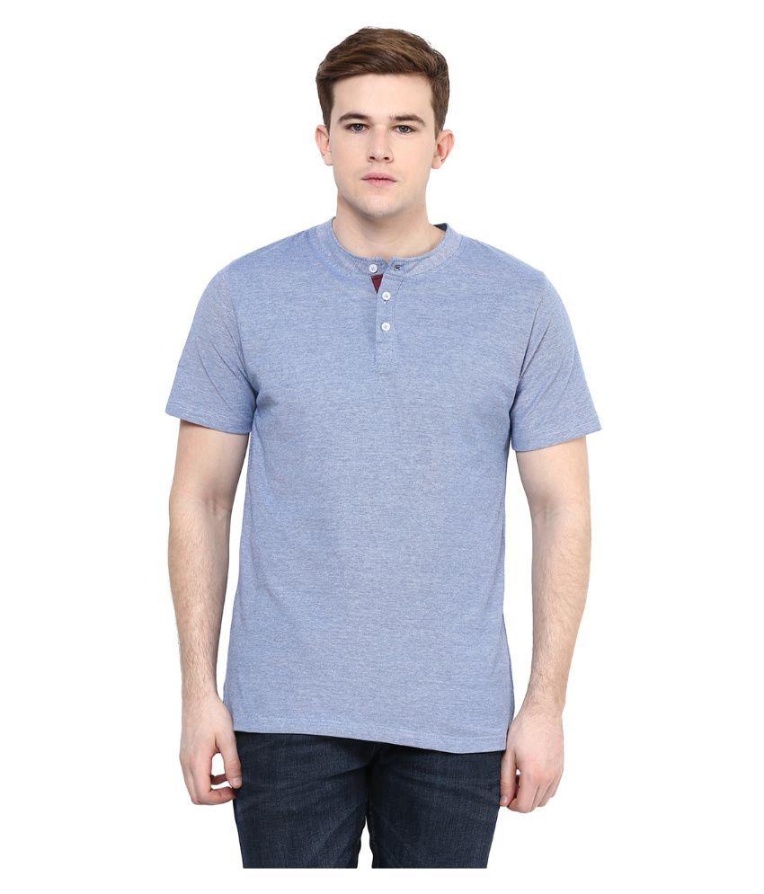 Yepme Blue Henley T Shirt