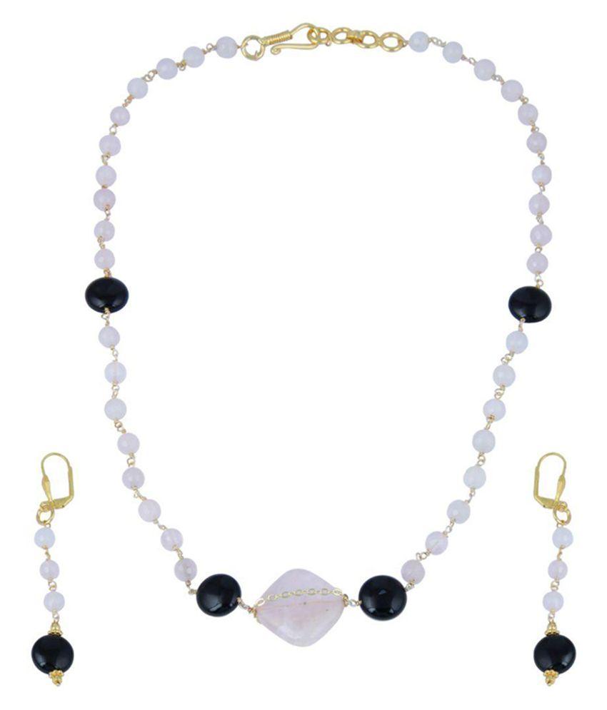 Pearlz Ocean White Necklace Set