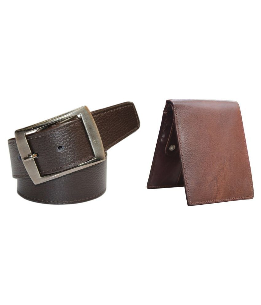 Winsome Deal Combo Of Belt And Wallet for Men