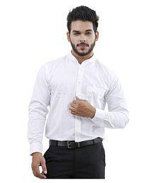 La Mode White Casuals Regular Fit Shirt
