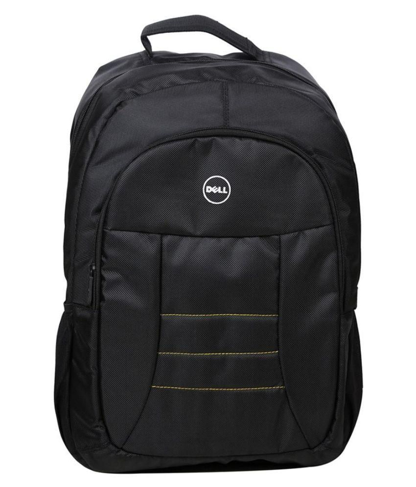 Dell Inspiron Black Polyester Laptop Backpack
