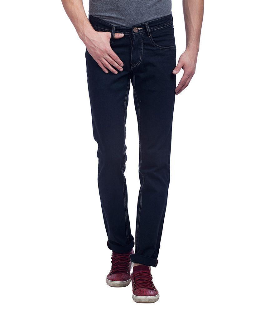 Trendy Bandey Black Regular Fit Solid Jeans