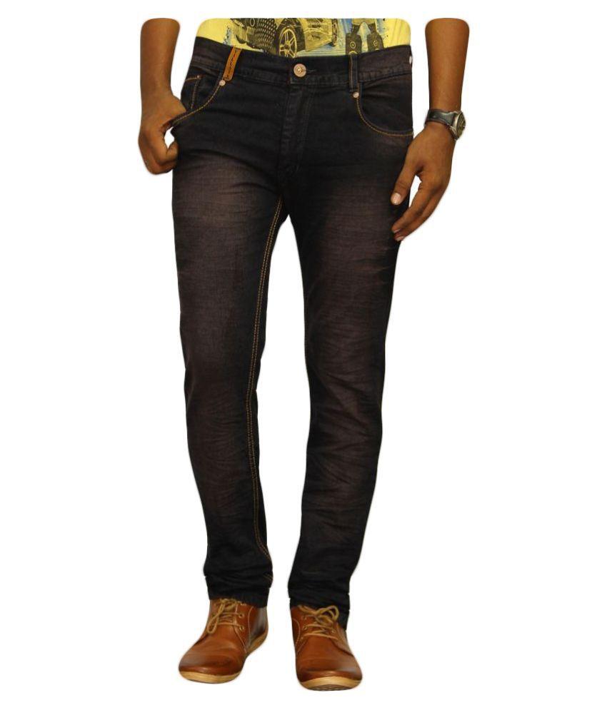 Jugend Black Regular Fit Washed Jeans