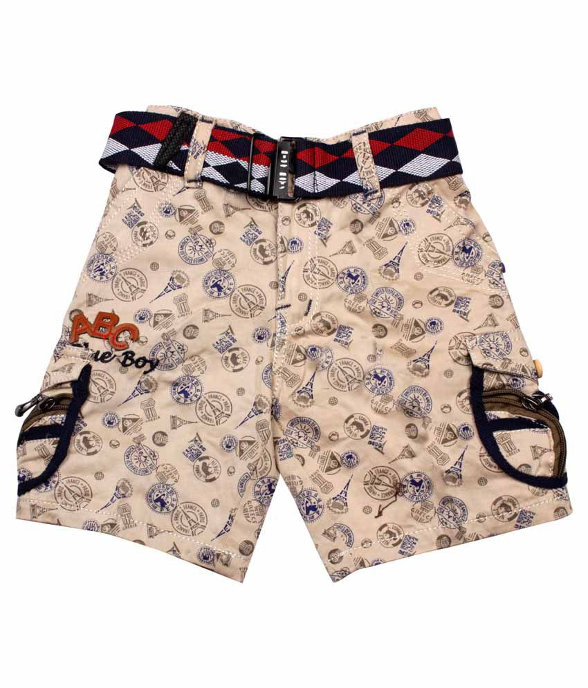 CAY Beige Shorts For Girls