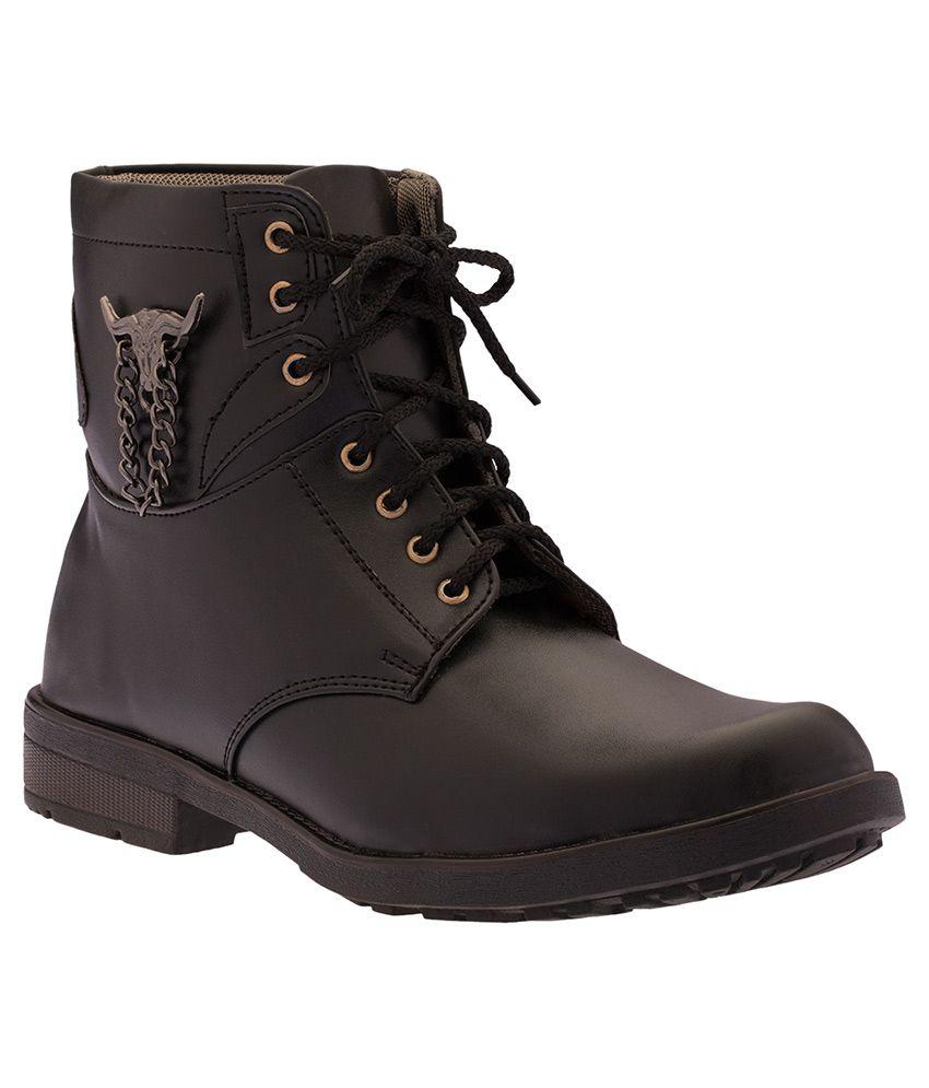 Footista Black Boots