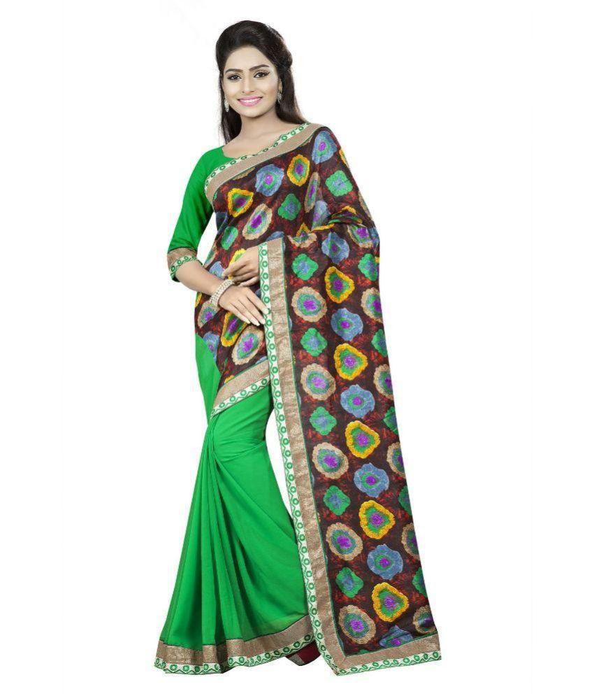 Aai Shree Khodiyar Art Multicoloured Bhagalpuri Silk Saree