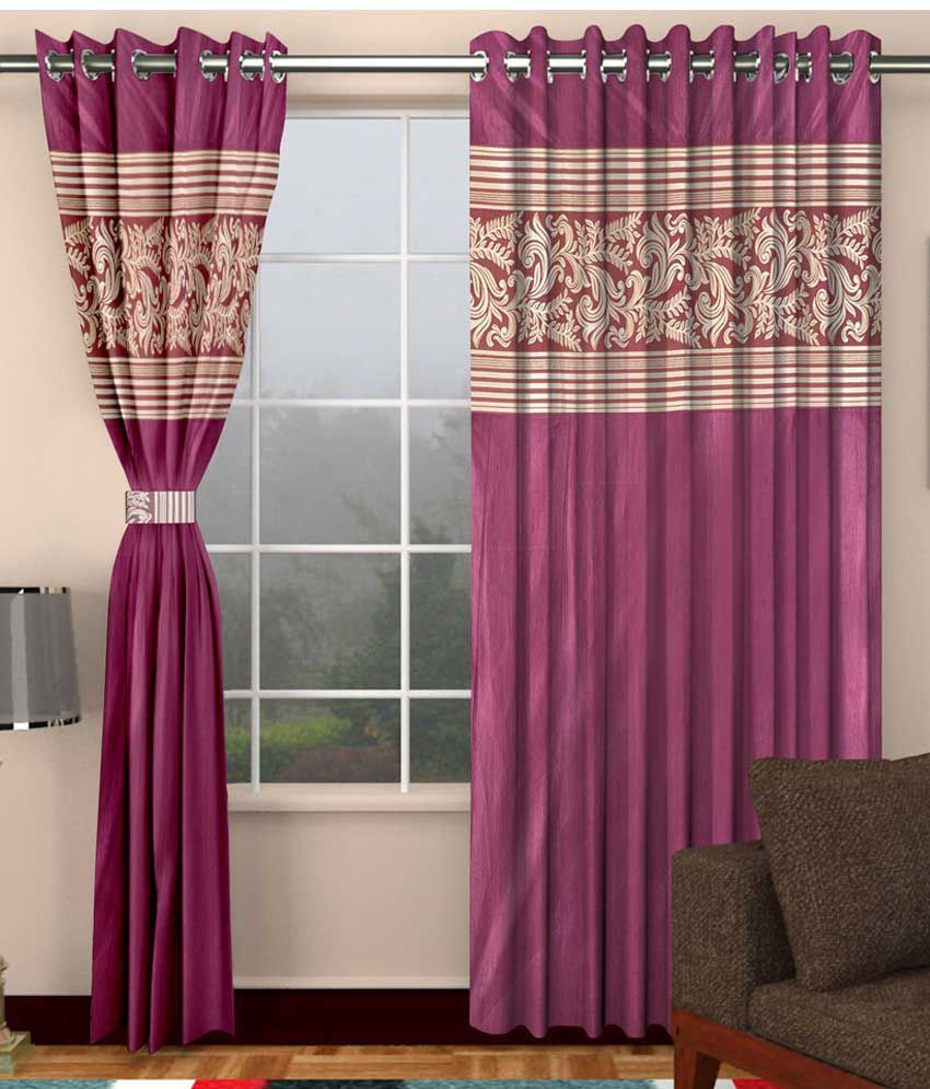 Dizen star set of 2 door eyelet curtain pink buy dizen star set of 2 door eyelet curtain pink - Home dizen ...