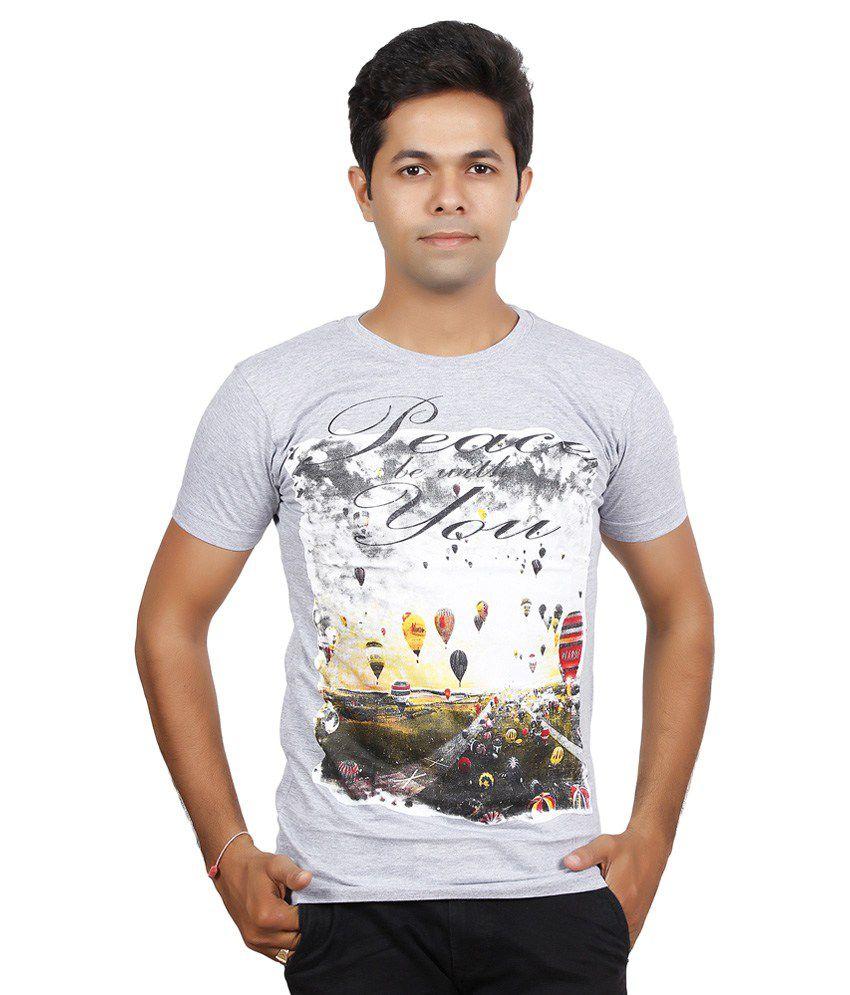 JG Forceman Grey Round T Shirt 1
