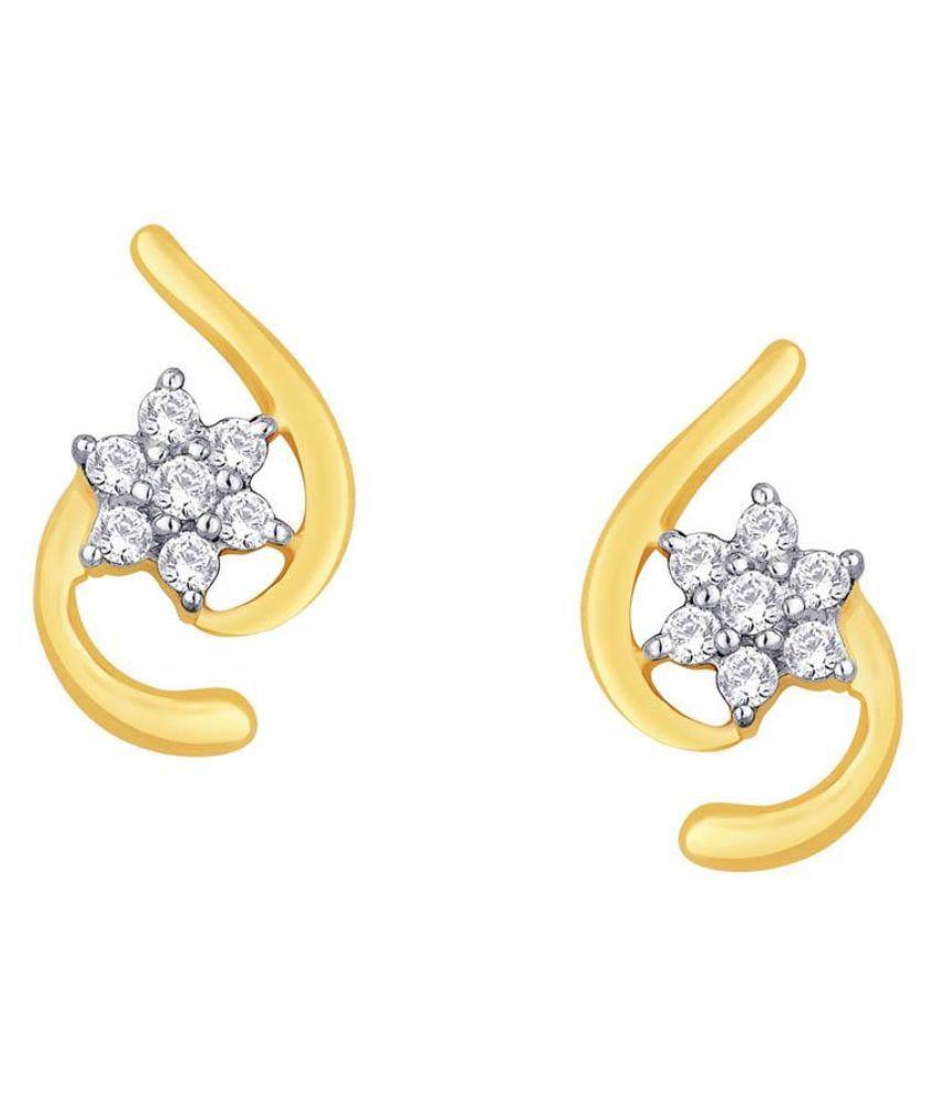 Shuddhi 18kt BIS Hallmarked Yellow Gold Diamond Studs