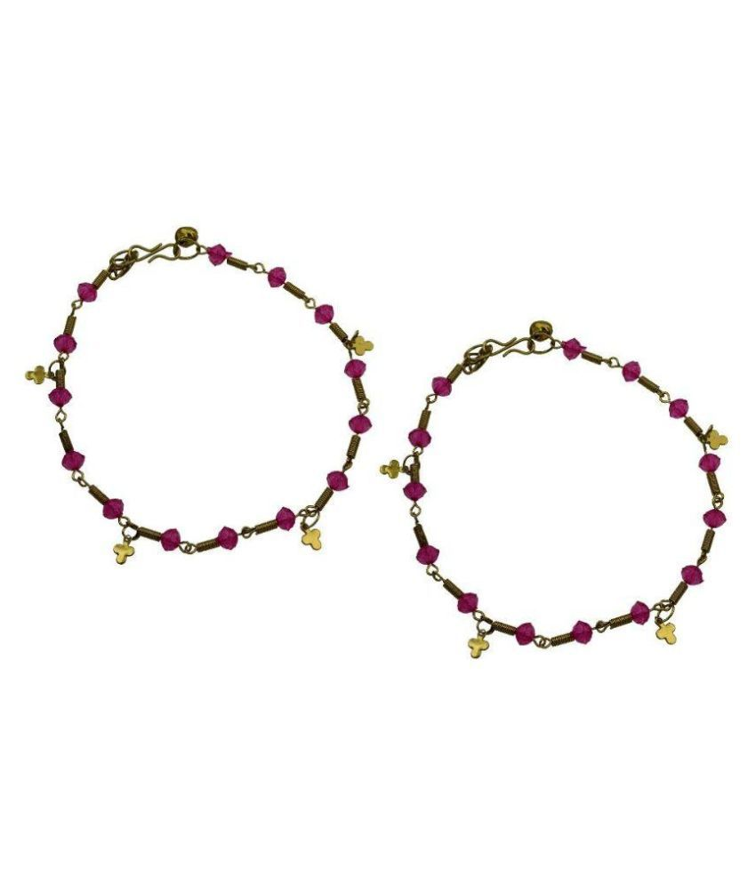 High Trendz Pink Pair of Anklets