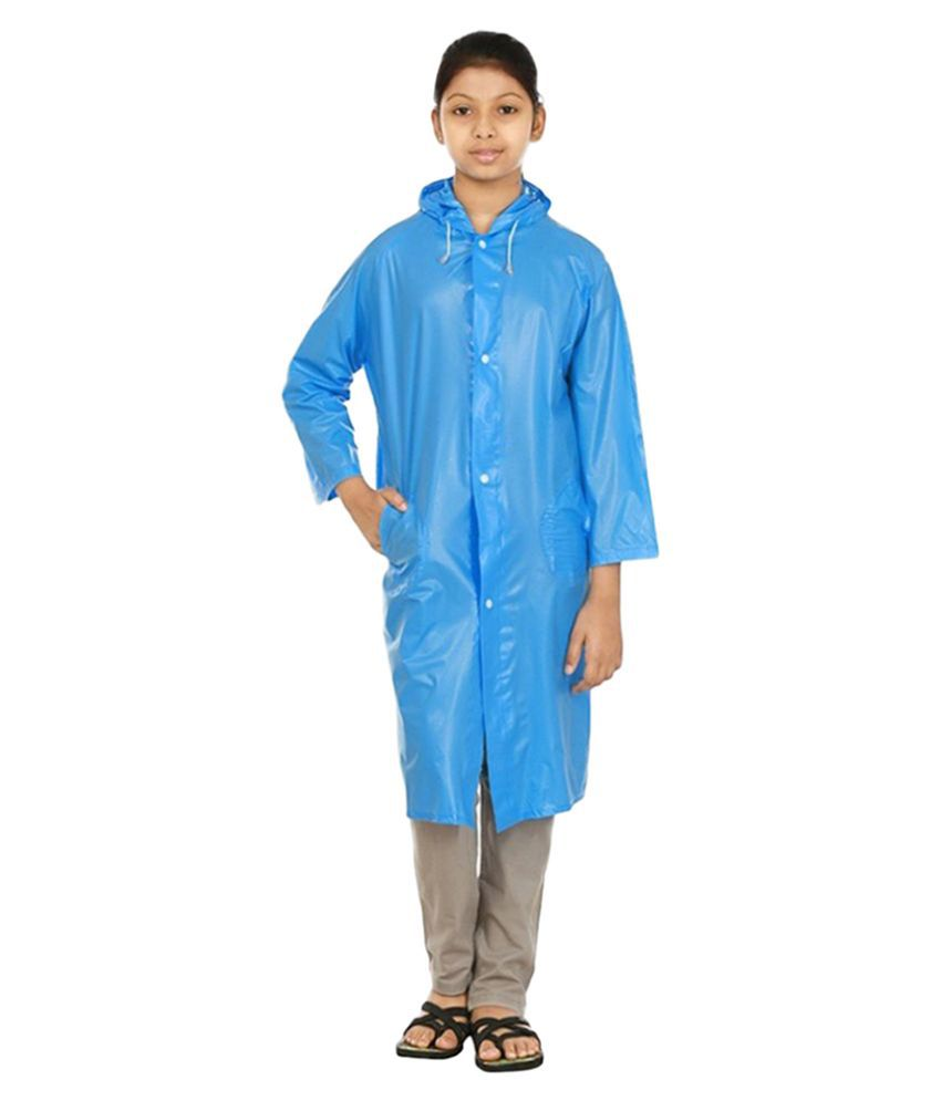 Inside Fashion Blue Viscose Rainwear for Girls