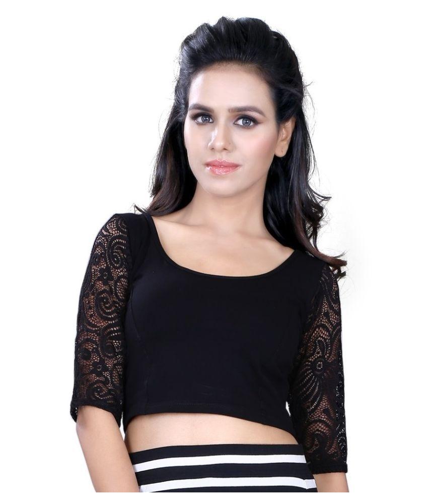 Fressia Fabrics Black Cotton Blouses