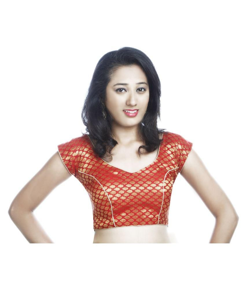 Lady In Style Red Silk Blouses