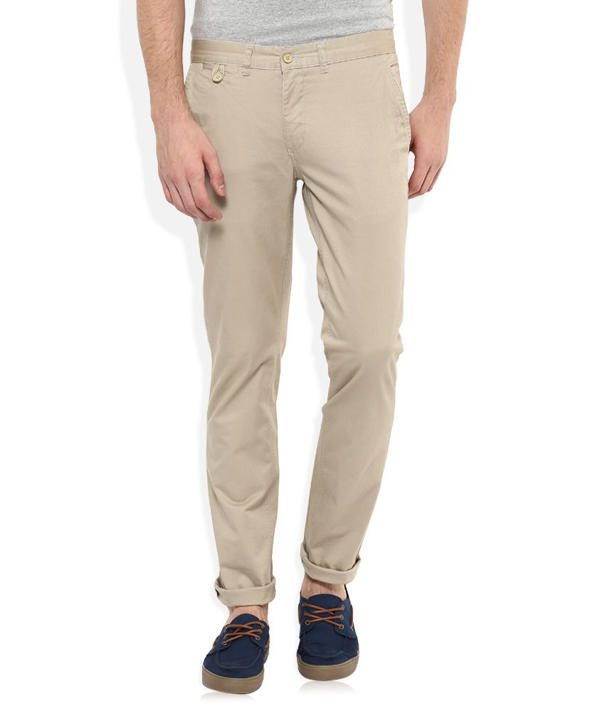 Park Avenue Khaki Regular Fit Chinos